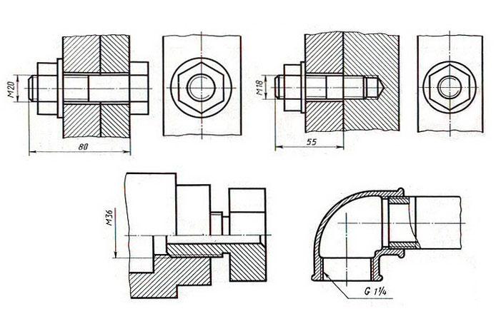 КОС по дисциплине Инженерная графика Пример задания для выполнения Графической работы № 13 приведен на рисунке ниже Задания могут быть аналогичными заданиям в 21 24 графических работах