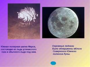Огромные ледники были обнаружены вблизи Северногои Южного полюсов Луны. Южная