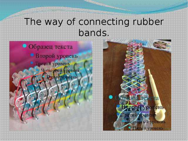 The way of connecting rubber bands.