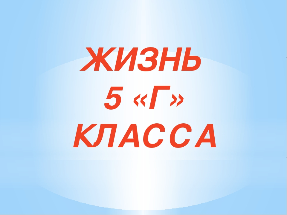 ЖИЗНЬ 5 «Г» КЛАССА