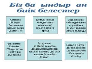 Астанада 56 елдің басшылары басын қосқан Саммит өтті Ұлттық әл-ауқат деңгейі