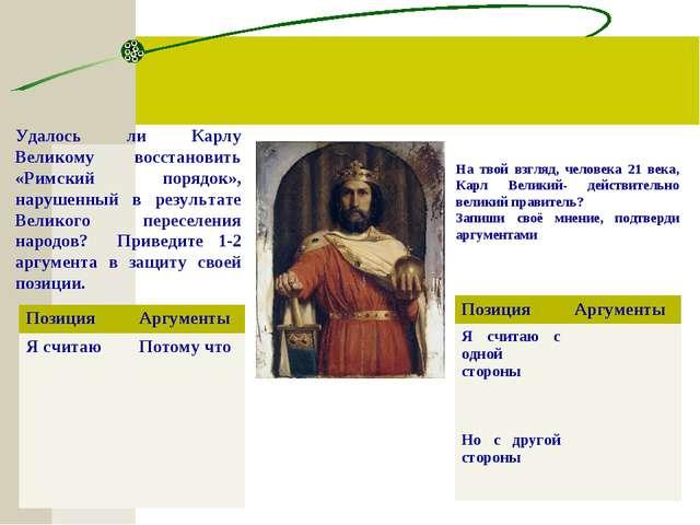 Удалось ли Карлу Великому восстановить «Римский порядок», нарушенный в резуль...