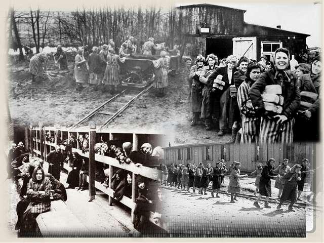 Большой женский лагерь, построенный на территории Германии. 92700 женщин и де...