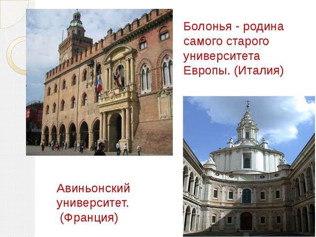Болонья - родина самого старого университета Европы. (Италия) Авиньонский уни...