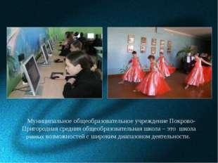 Муниципальное общеобразовательное учреждение Покрово-Пригородная средняя общ