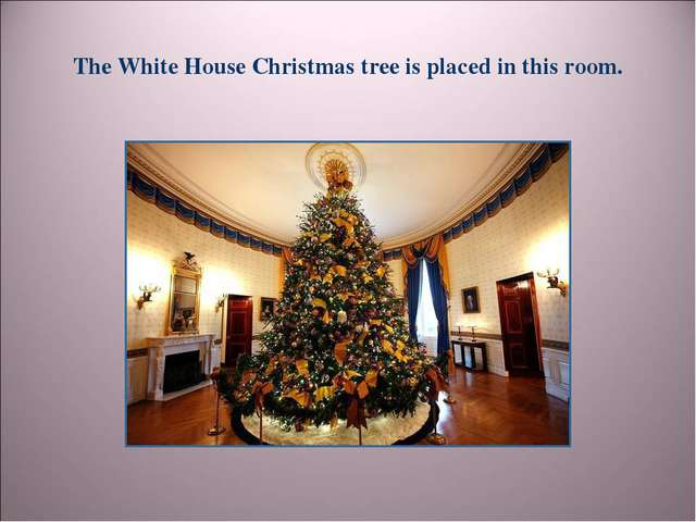 The White House Christmas tree is placed in this room.