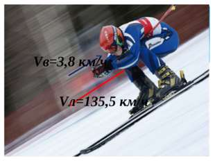 Vл=135,5 км/ч Vв=3,8 км/ч