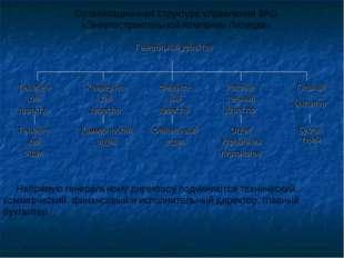 Организационная структура управления ЗАО «Энергостроительной Компании Липецка