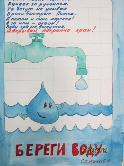 Плакат как беречь воду картинки для детей