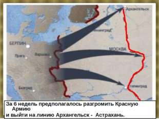 План «Барбаросса» предусматривал ведение «молниеносной войны» против СССР на