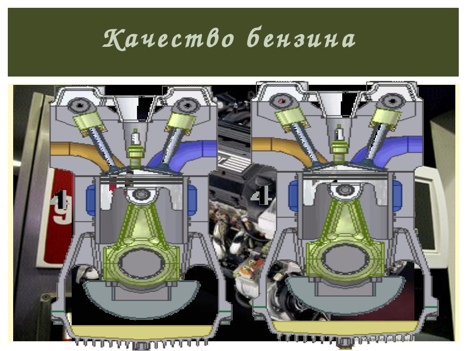 Качество бензина определяется устойчивостью бензина к детонации (преждевремен...