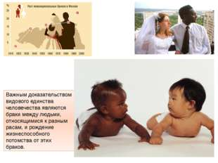 Важным доказательством видового единства человечества являются браки между лю