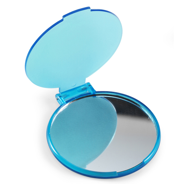 Зеркало Dewal Beauty настольное, в синей оправе, 204x160x60мм