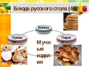 Блюда русского стола (4) Мучные изделия Пряники Блины Пироги