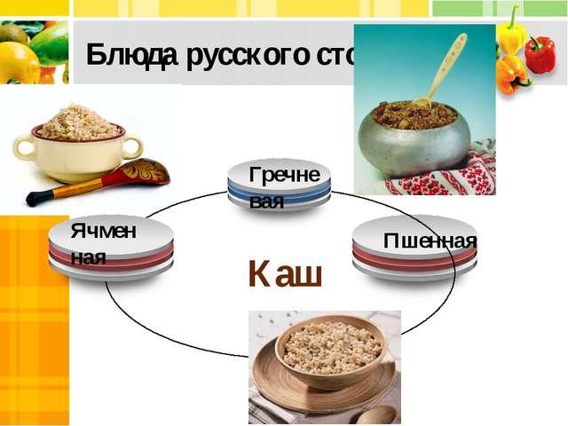 Блюда русского стола (3) Каши Ячменная Гречневая Пшенная