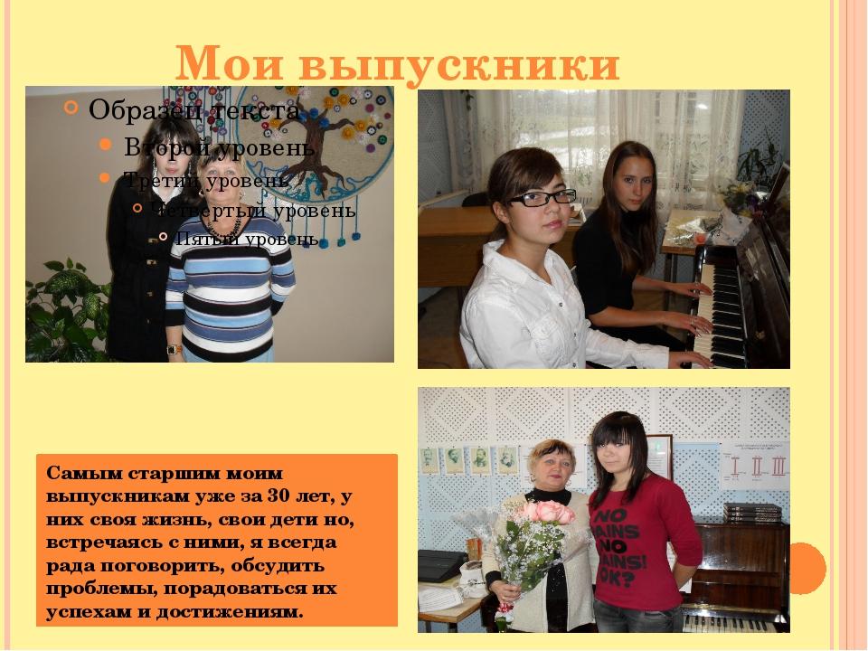 Мои выпускники Самым старшим моим выпускникам уже за 30 лет, у них своя жизнь...