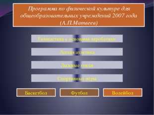 Программа по физической культуре для общеобразовательных учреждений 2007 года