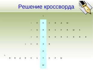 Решение кроссворда 6 1ОКСИДЫ 2БИНАРНЫ
