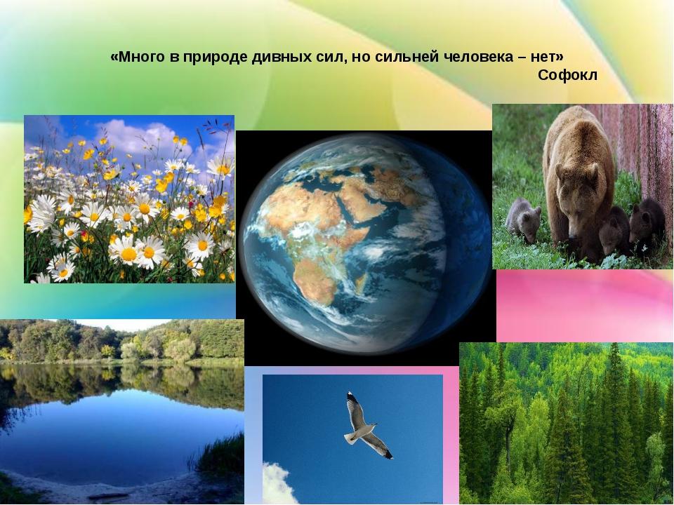 «Много в природе дивных сил, но сильней человека – нет» Софокл