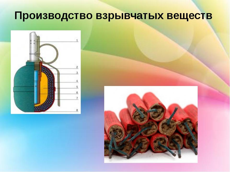 Производство взрывчатых веществ