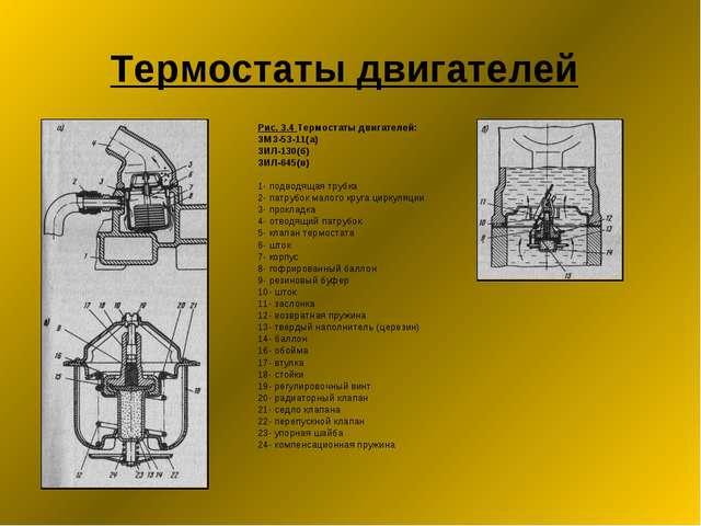 Термостаты двигателей Рис. 3.4 Термостаты двигателей: ЗМЗ-53-11(а) ЗИЛ-130(б)...