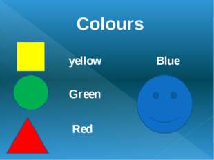 Colours yellow Green Blue Red