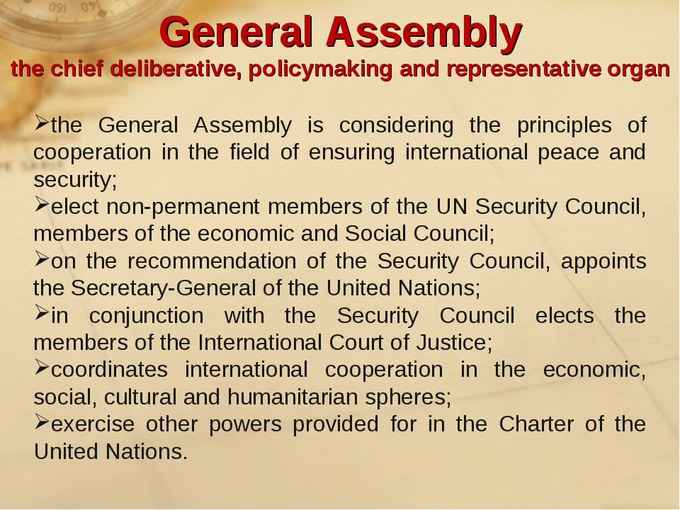 the General Assembly is considering the principles of cooperation in the fiel...