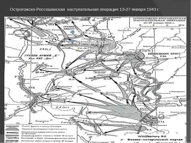 Острогожско-Россошанская наступательная операция 13-27 января 1943 г.