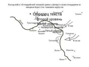 Выход войск 3-й гвардейской танковой армии к Днепру и захват плацдармов на за
