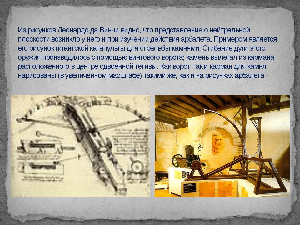Из рисунков Леонардо да Винчи видно, что представление о нейтральной плоскост...