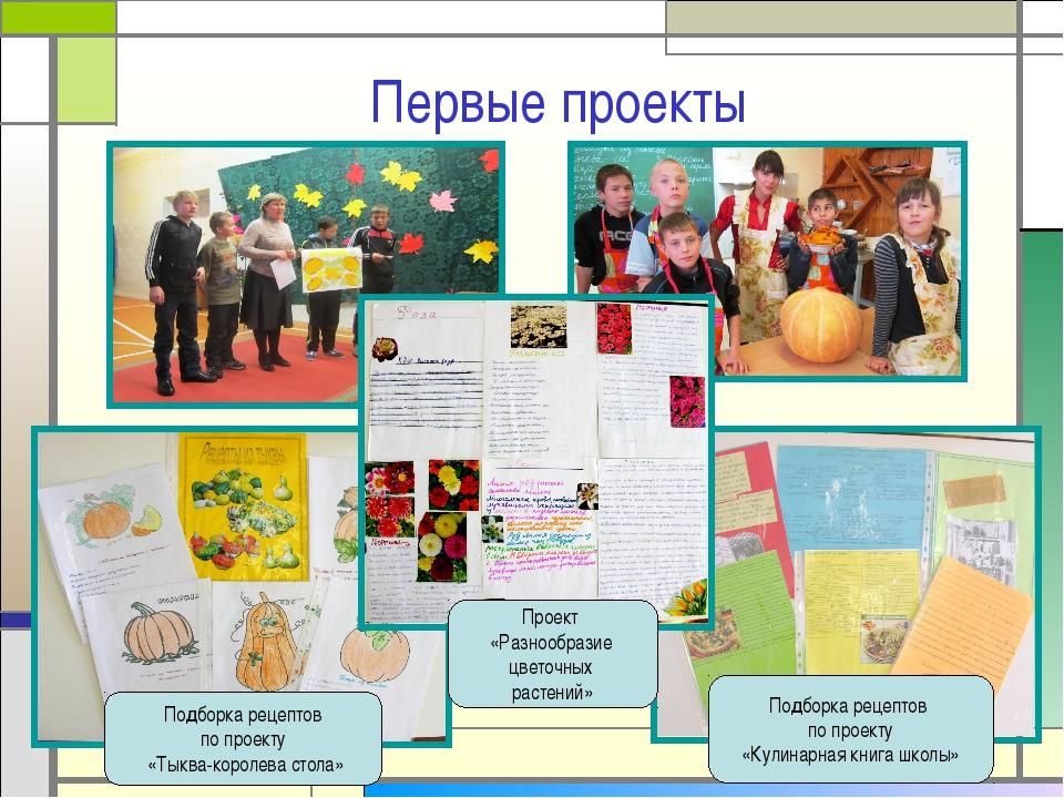 Первые проекты Подборка рецептов по проекту «Тыква-королева стола» Подборка р...