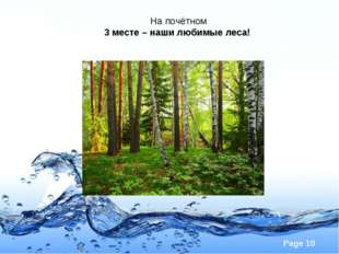 На почётном 3 месте – наши любимые леса! Page *