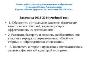 Анализ работы педагога дополнительного образования Смирновой Елены Александро