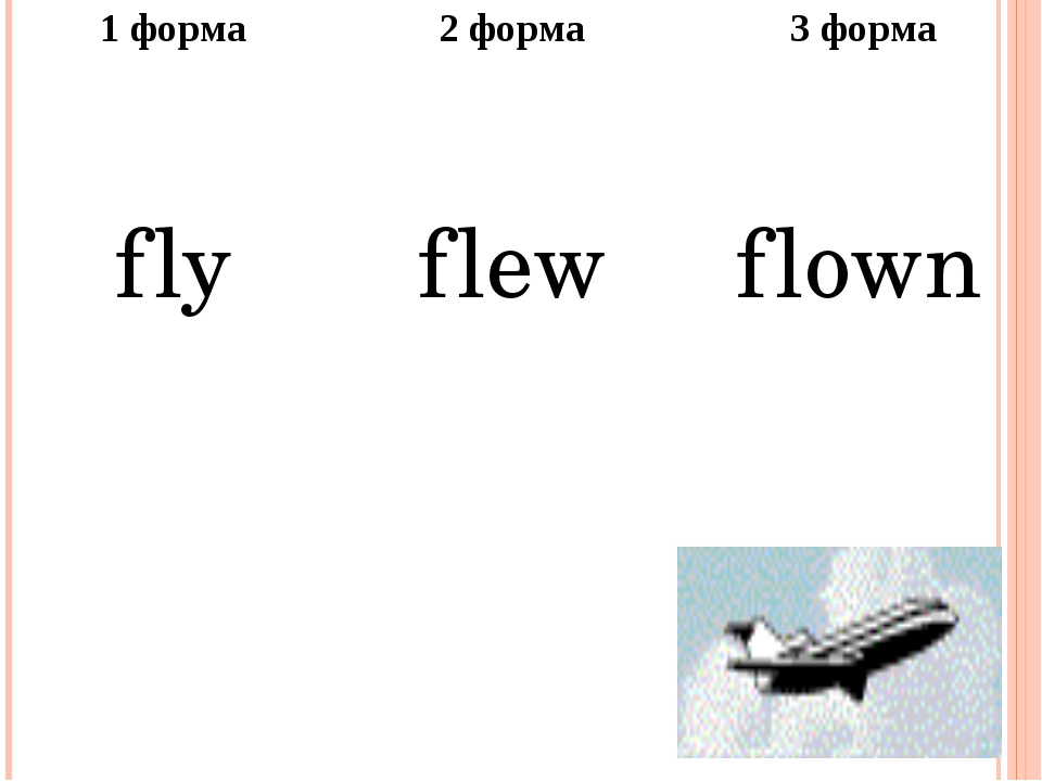 1форма 2 форма 3 форма fly flew flown
