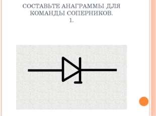 СОСТАВЬТЕ АНАГРАММЫ ДЛЯ КОМАНДЫ СОПЕРНИКОВ. 1.