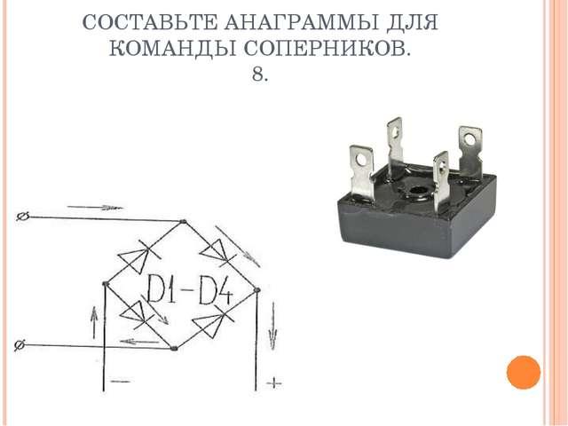 СОСТАВЬТЕ АНАГРАММЫ ДЛЯ КОМАНДЫ СОПЕРНИКОВ. 8.