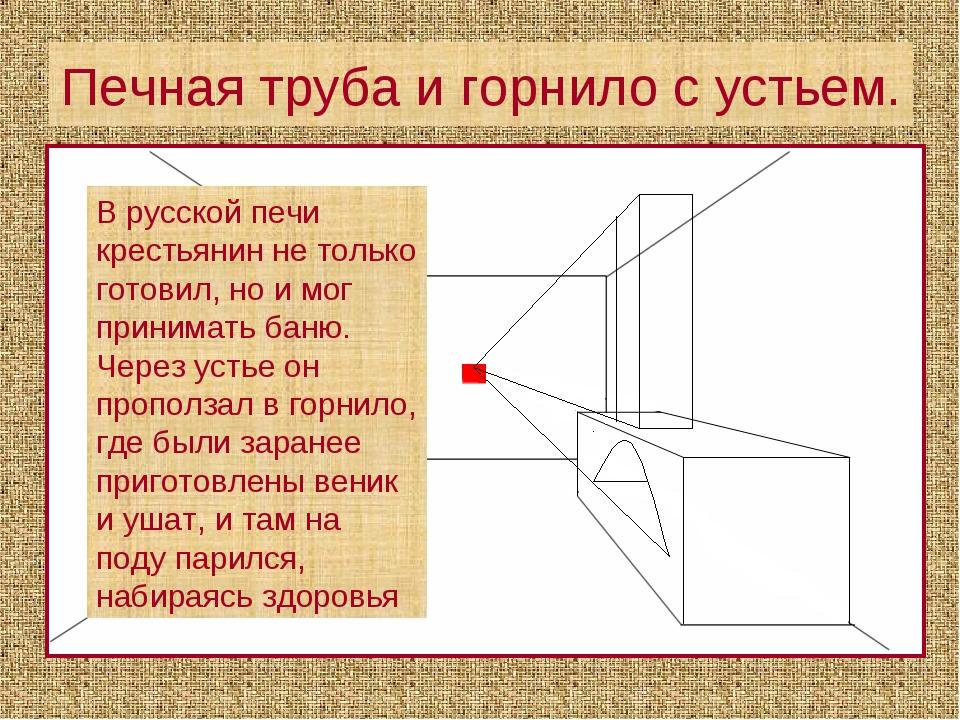 Печная труба и горнило с устьем. В русской печи крестьянин не только готовил,...