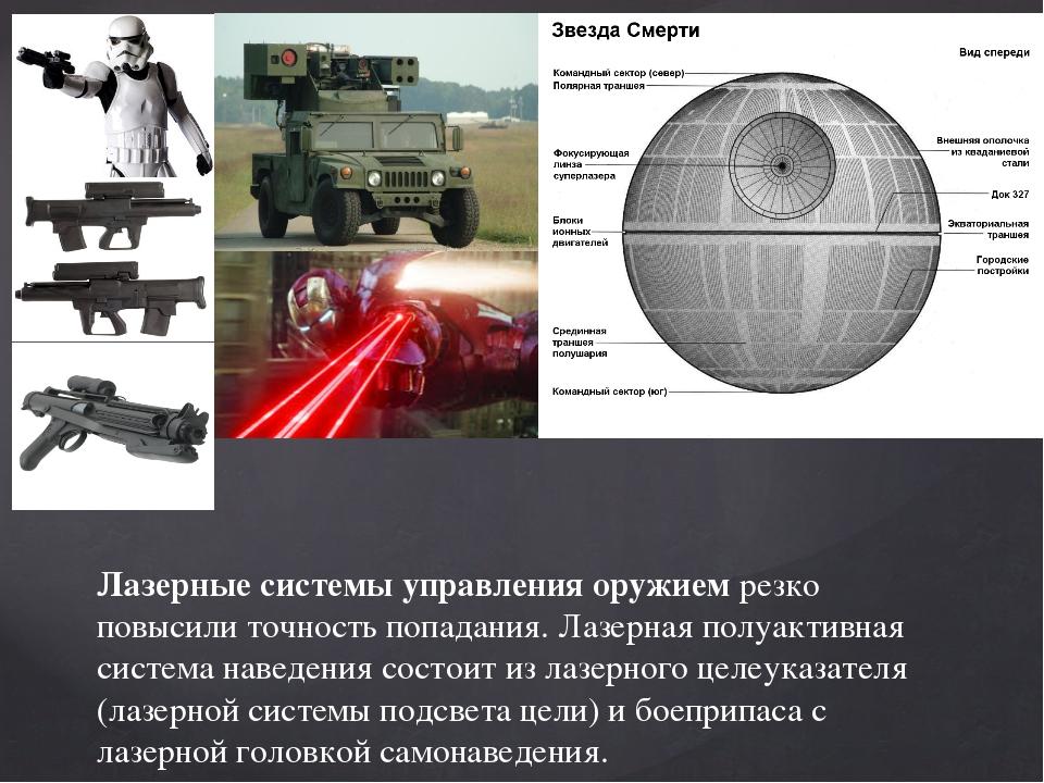 Лазерные системы управления оружиемрезко повысили точность попадания. Лазерн...