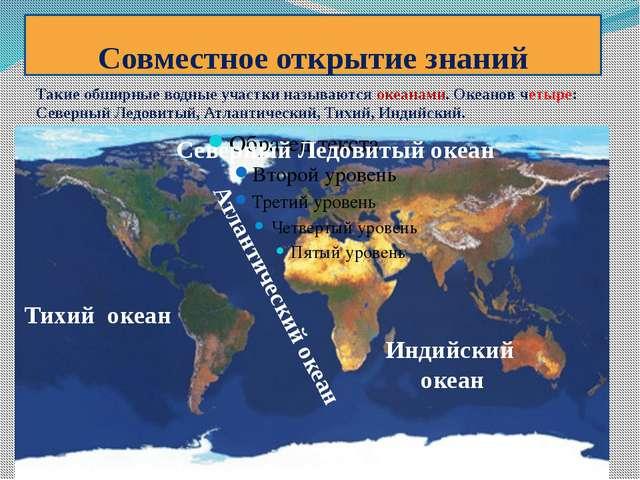 Совместное открытие знаний Северный Ледовитый океан Такие обширные водные уча...