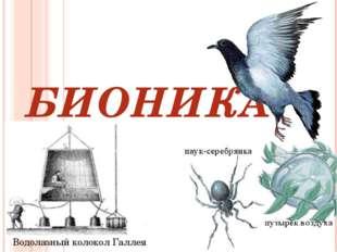 БИОНИКА Водолазный колокол Галлея