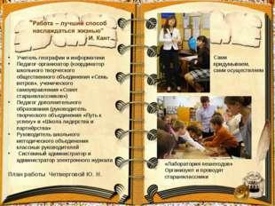 Учитель географии и информатики Педагог-организатор (координатор школьного тв