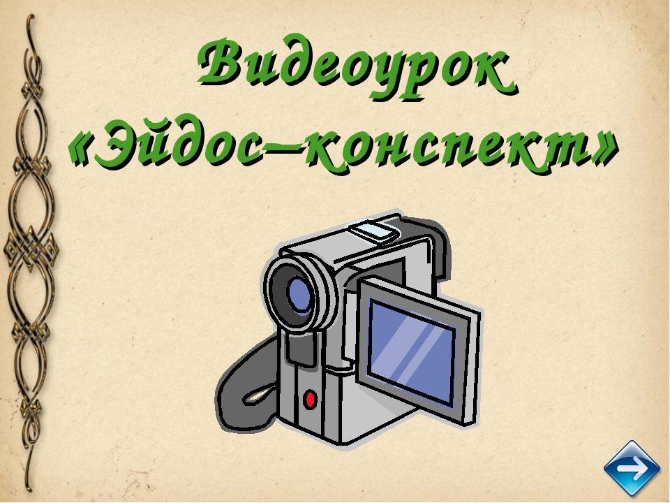 Видеоурок «Эйдос–конспект»