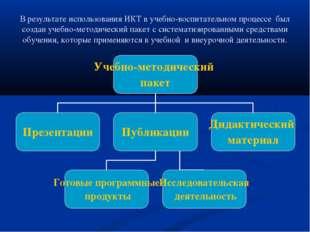 В результате использования ИКТ в учебно-воспитательном процессе был создан уч