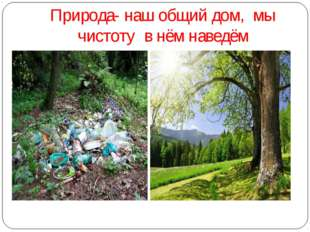 Природа- наш общий дом, мы чистоту в нём наведём