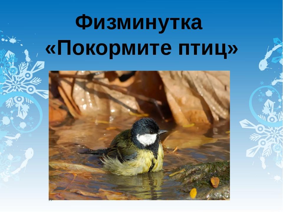 Физминутка «Покормите птиц»