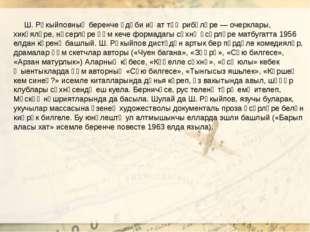 Ш. Рәкыйповның беренче әдәби иҗат тәҗрибәләре — очерклары, хикәяләре, нәсерл