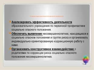 Основные задачи деятельности Комиссии по профилактики: Анализировать эффекти