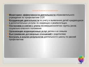 Функции Комиссии по профилактики Мониторинг эффективности деятельности образ