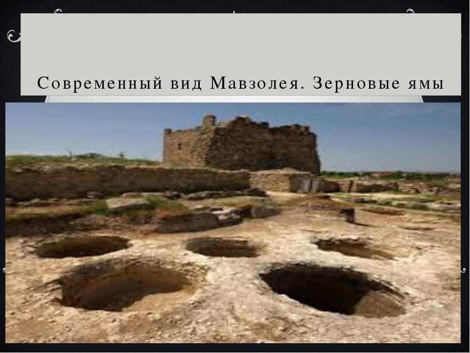 Современный вид Мавзолея. Зерновые ямы