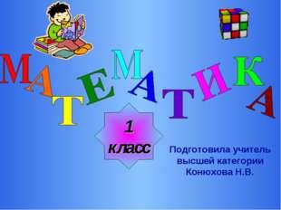 1 класс Подготовила учитель высшей категории Конюхова Н.В.